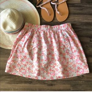 J. Crew Floral Skirt with Pockets